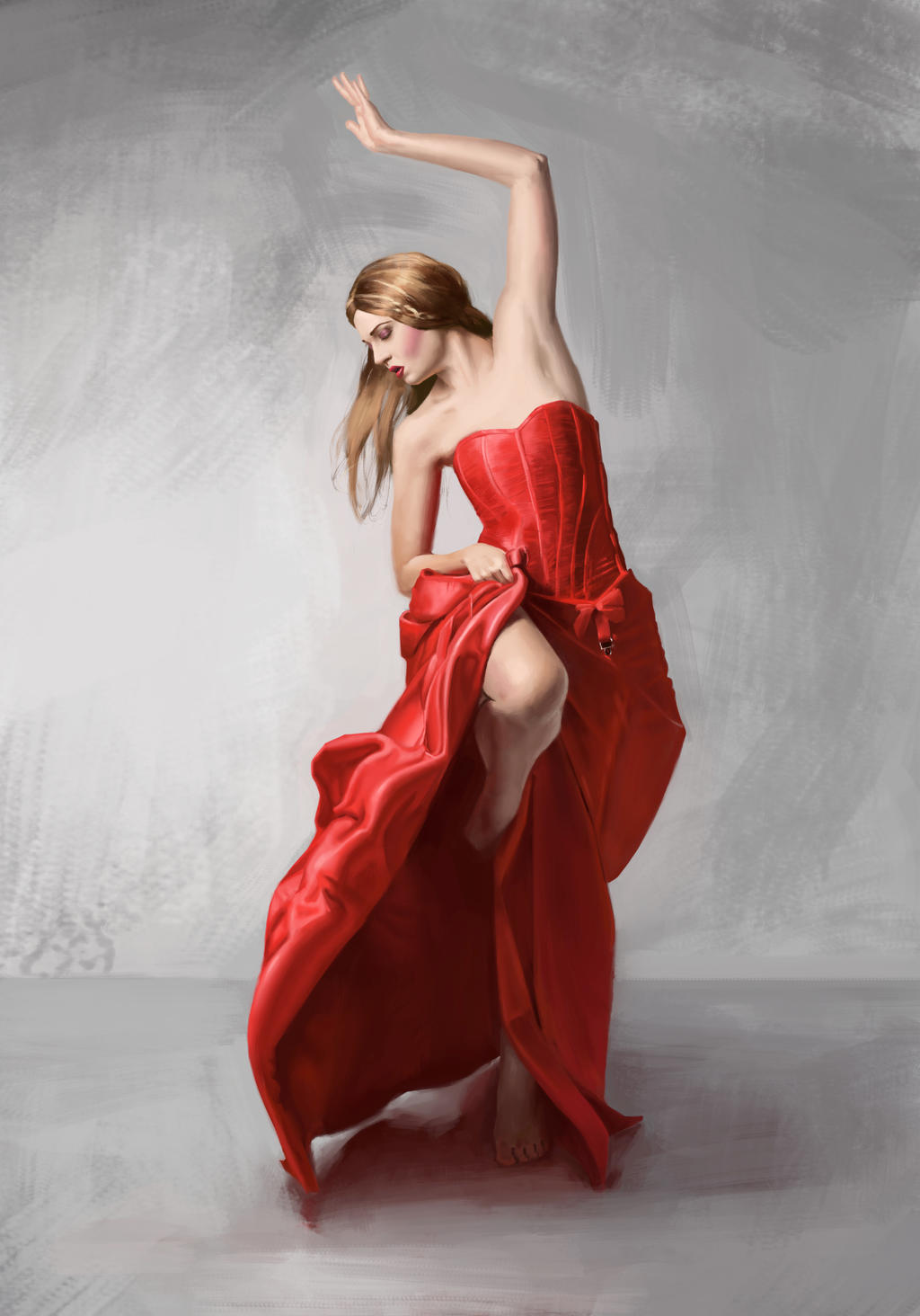 Dancing Woman in Red