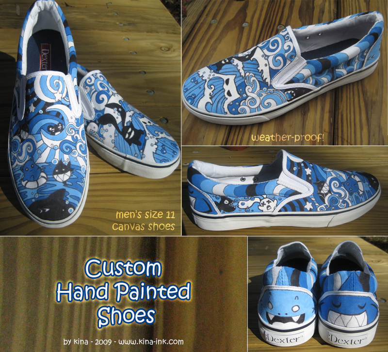 the gallery for gt canvas shoe painting