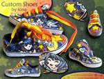 Custom Shoes Cats'n Stars