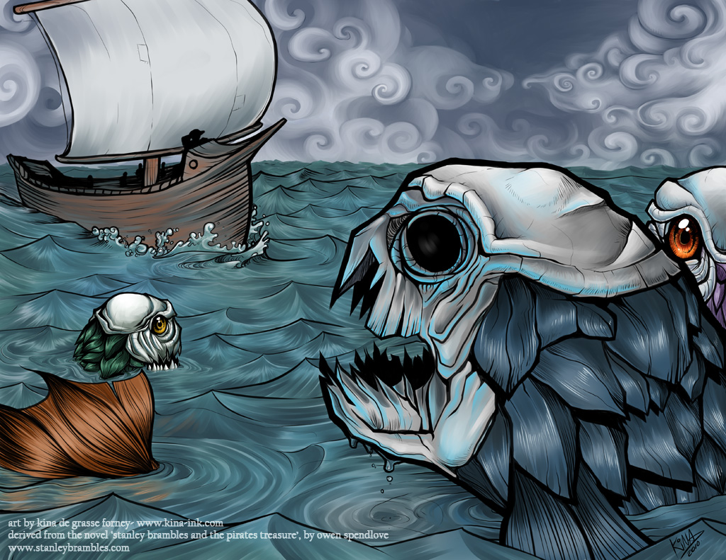 One eye and the armour fish by kina on deviantart for One eyed fish