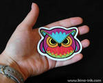 Angry Owl Sticker