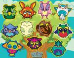 Set of 11 Owl Vinyl Stickers