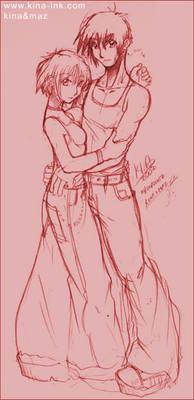kina and maz sketch