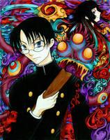 xxxHOLIC Watanuki and Yuko by kina