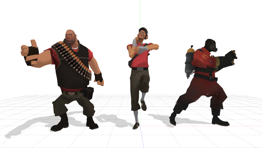 TF2 Taunt poses by popthosegaskets on DeviantArt