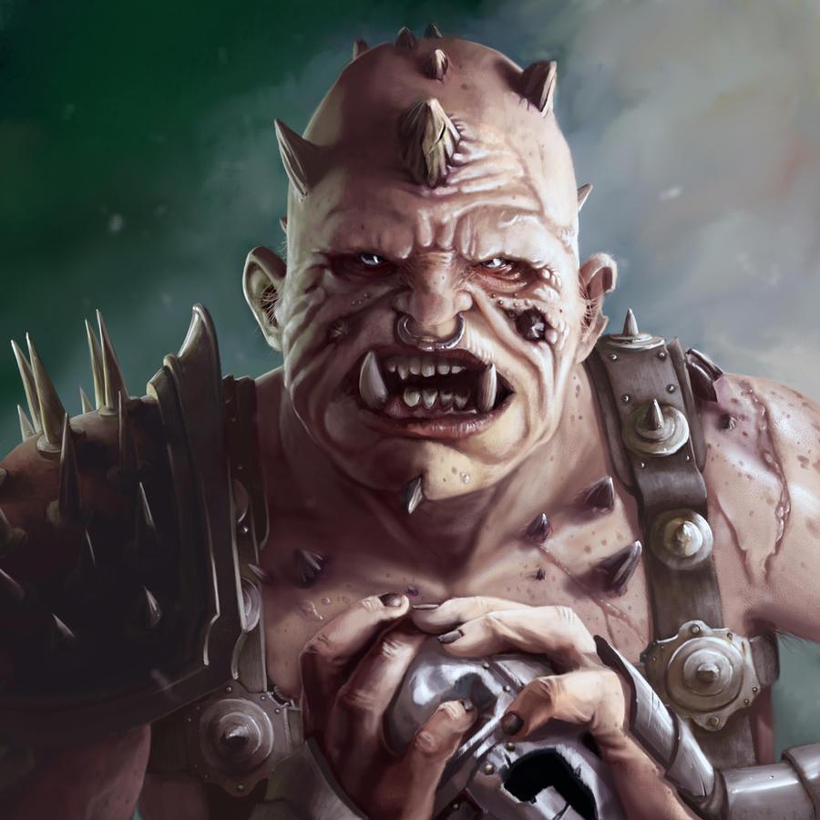 Galeria de Arte: Ficção & Fantasia 1 - Página 4 Ogre_gladiator_portrait_by_jrcoffroniii-d4ojssn