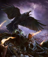 Skull and Crow by JRCoffronIII