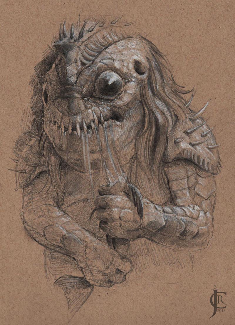Fishy Guy Sketch by JRCoffronIII
