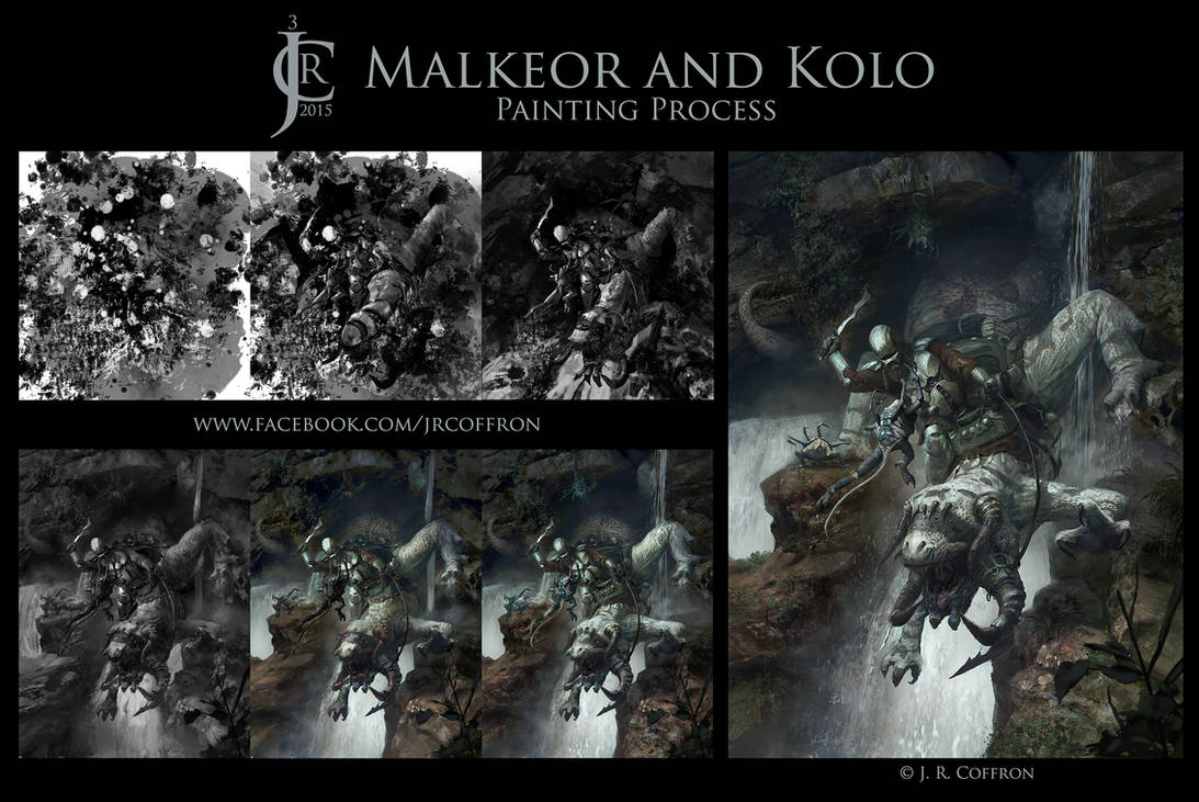 Malkeor and Kolo Painting Process