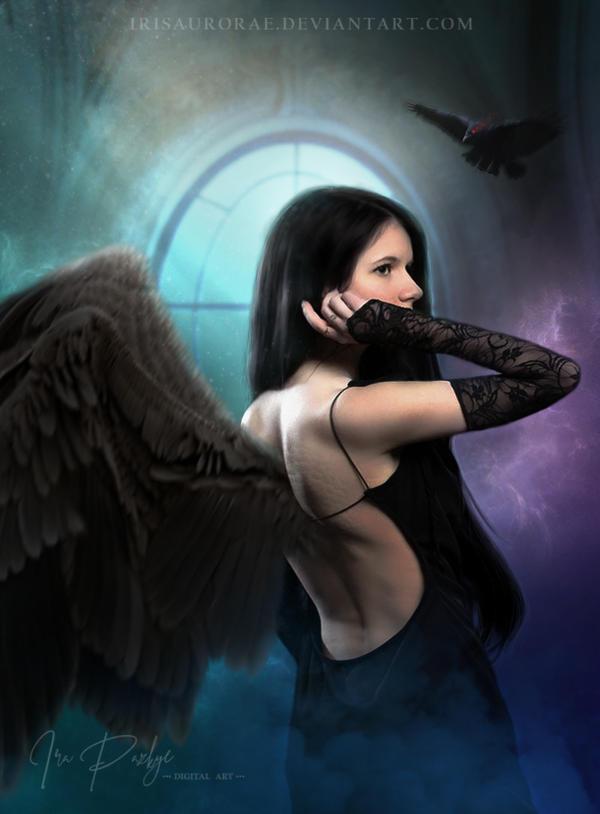 Wings Of Night II by IrisAurorae