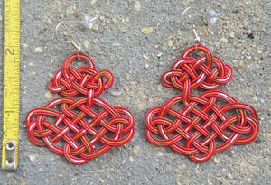 Recycled wire earrings. For sale