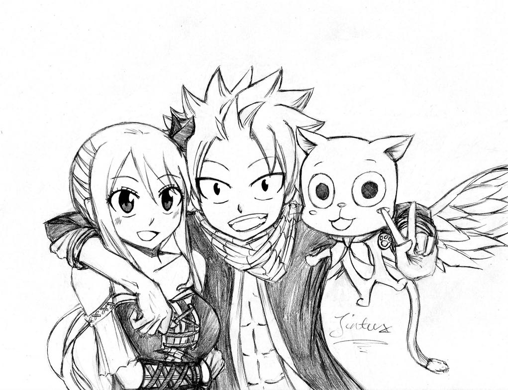 Fairy tail natsu lucy and happy by jintux on deviantart - Fairy tail happy and natsu ...