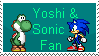 Yoshi and Sonic Fan by SonictheYoshi