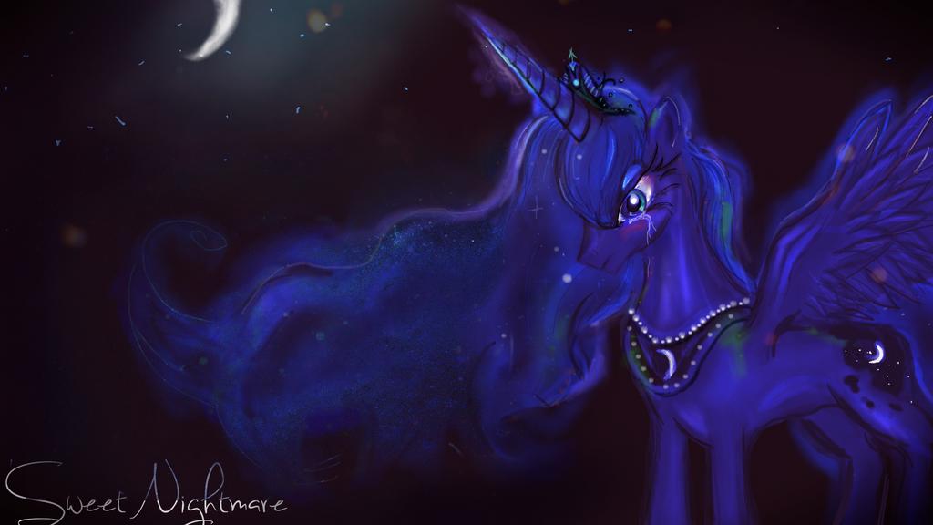 Luna in darkness