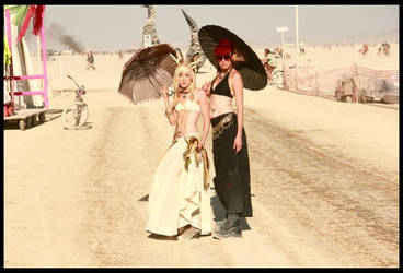 Burning Man girls