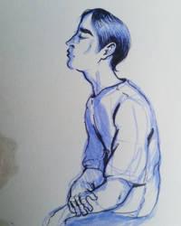 A quick sketch in blue