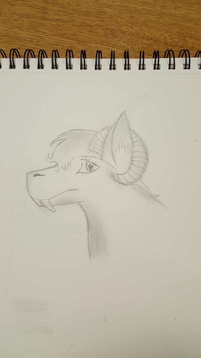 Fursona headshot. by wolflover1020