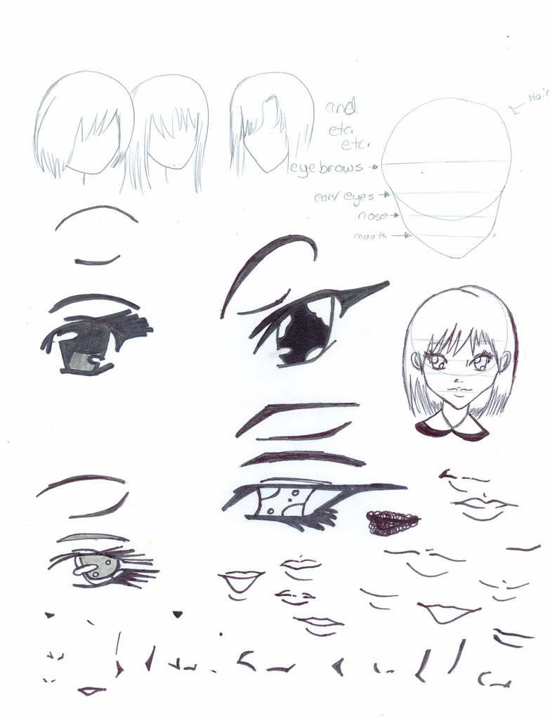 diffrent eyes nose and mouths by iceprincess67 on deviantart