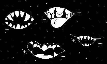 Mouths in space