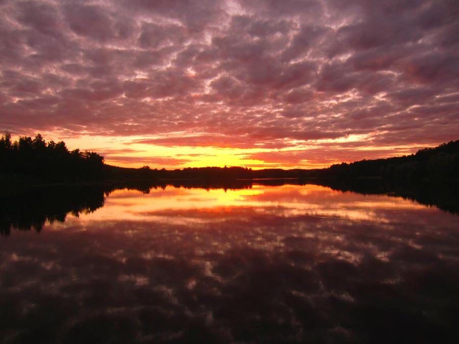 July sunset by ainoani