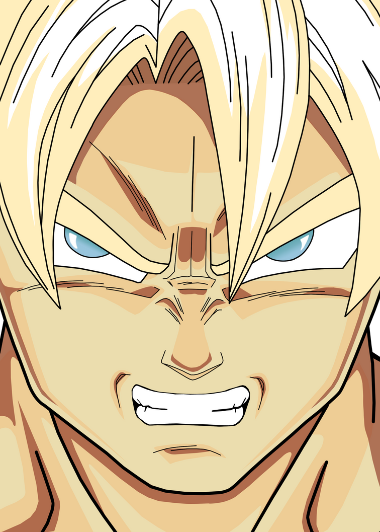 Anime Upset Face Gif Goku - Angry Face by