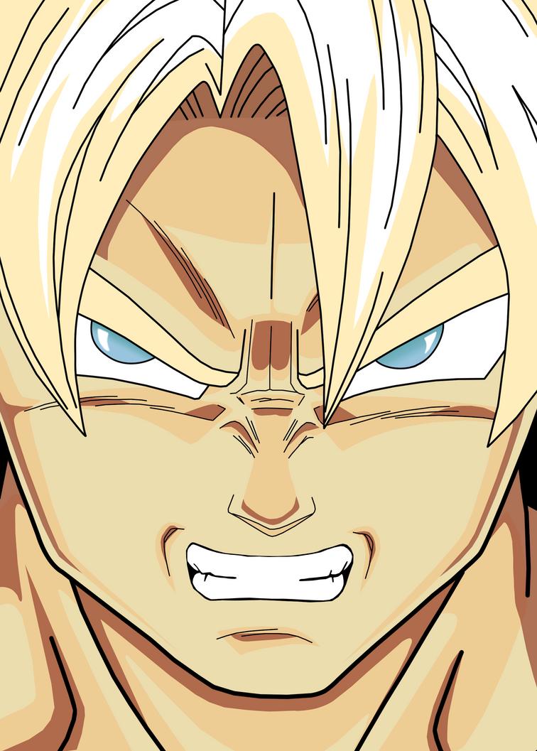 Anime Upset Face Gif Goku - Angry Face by