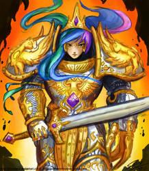 God Empress Celestia Coloured by Blueshift2k5