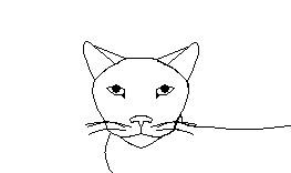 Cat Headshot Lineart by melfurny