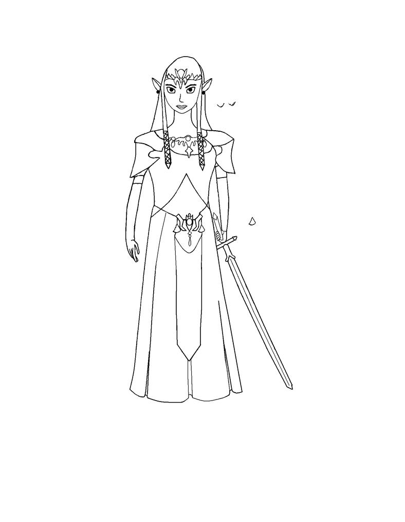 Zelda Twilight Princess - Sketch by melfurny
