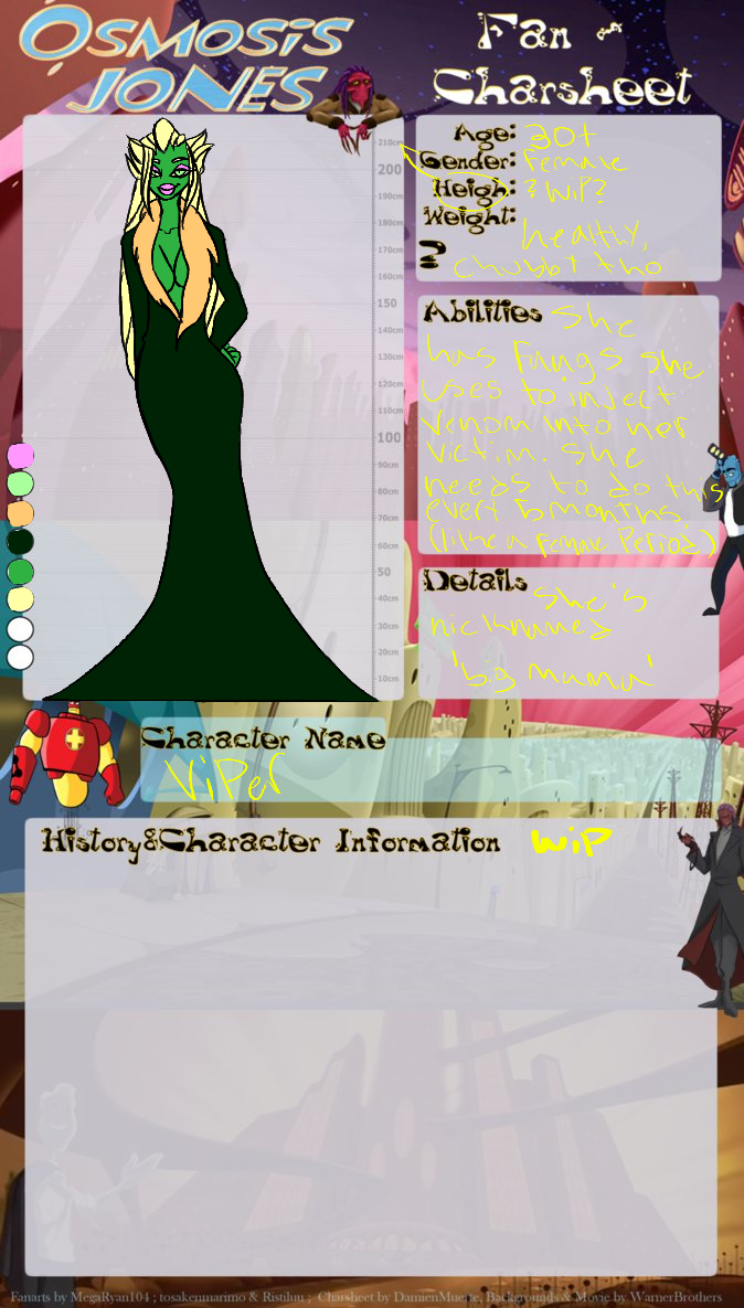 Viper: character sheet by BrooBroo