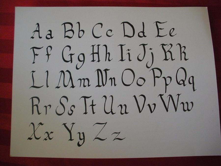 Calligraphy alphabet by schipperke42 on deviantart