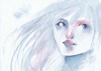 Watercolor Girl by Fidokun