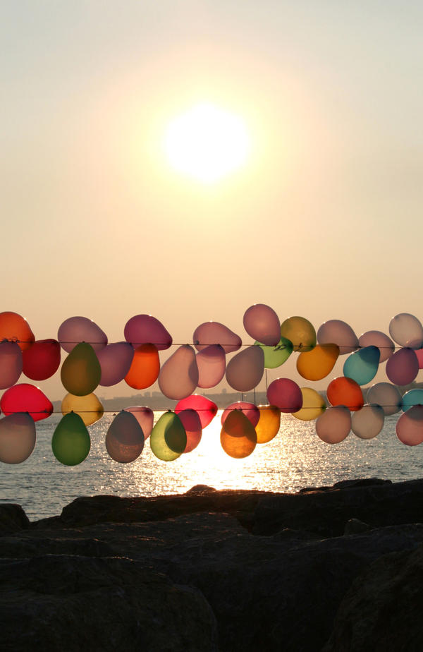 sunset balloons by cimengizem