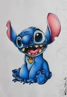Lilo and Stitch Drawing - Stitch by ShiroiNekosArt