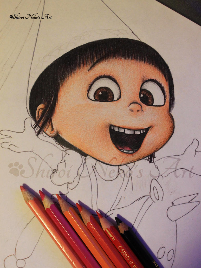 WIP Despicable Me Drawing - Agnes by ShiroiNekosArt on ...