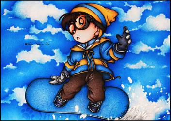 Detective Conan Drawing - Conan Edogawa (Snow)