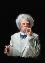 Mark Twain photo study