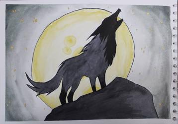 Lone Wolf by Frakkle-art