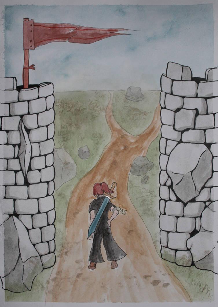 Stonework Gates by Frakkle-art
