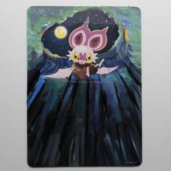 Painted Pokemon Card - Noibat