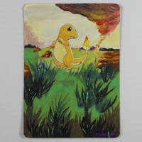 Painted Pokemon Card - Charmander