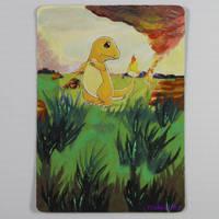 Painted Pokemon Card - Charmander