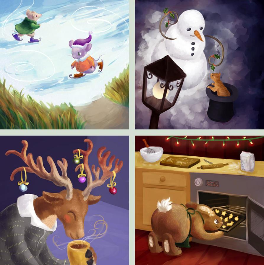 Christmas cards 2011 by Neesha