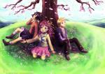 Under the cherry tree by Neesha