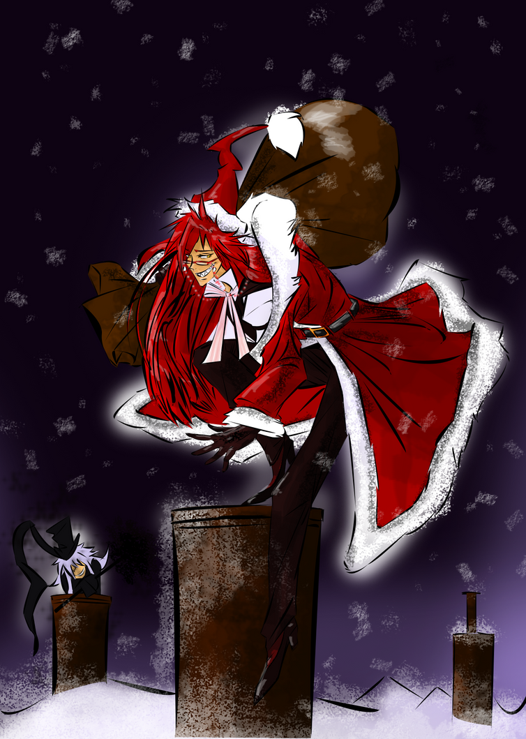 Christmas ::Grell Greetings:: by Zedela