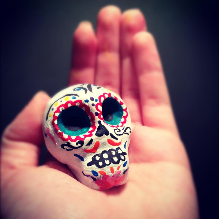 De Los Muertos skull by NotTooShabbey on DeviantArt