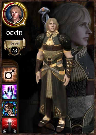 Grey Warden Card: Devin Amell by Jenovan