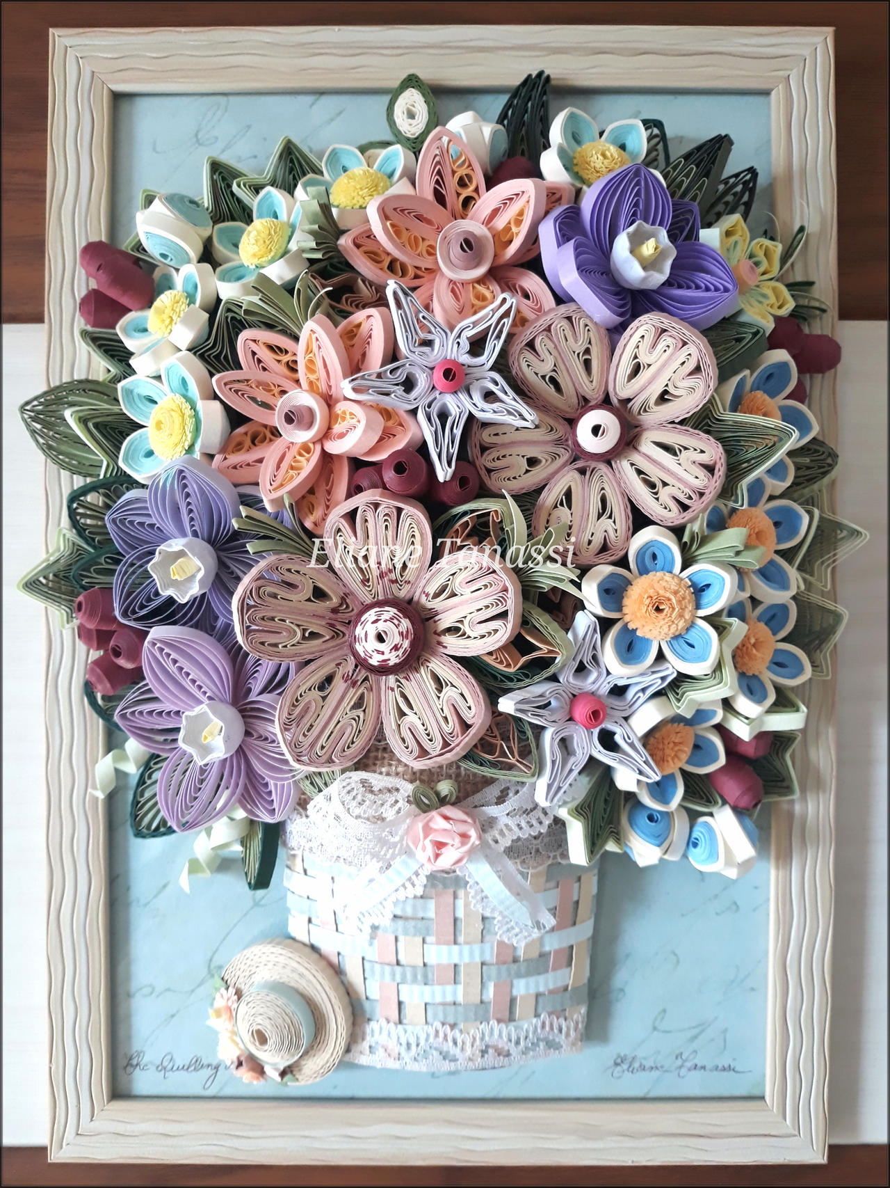 this quilled basket will be perfect for the spring ... | 1707x1280