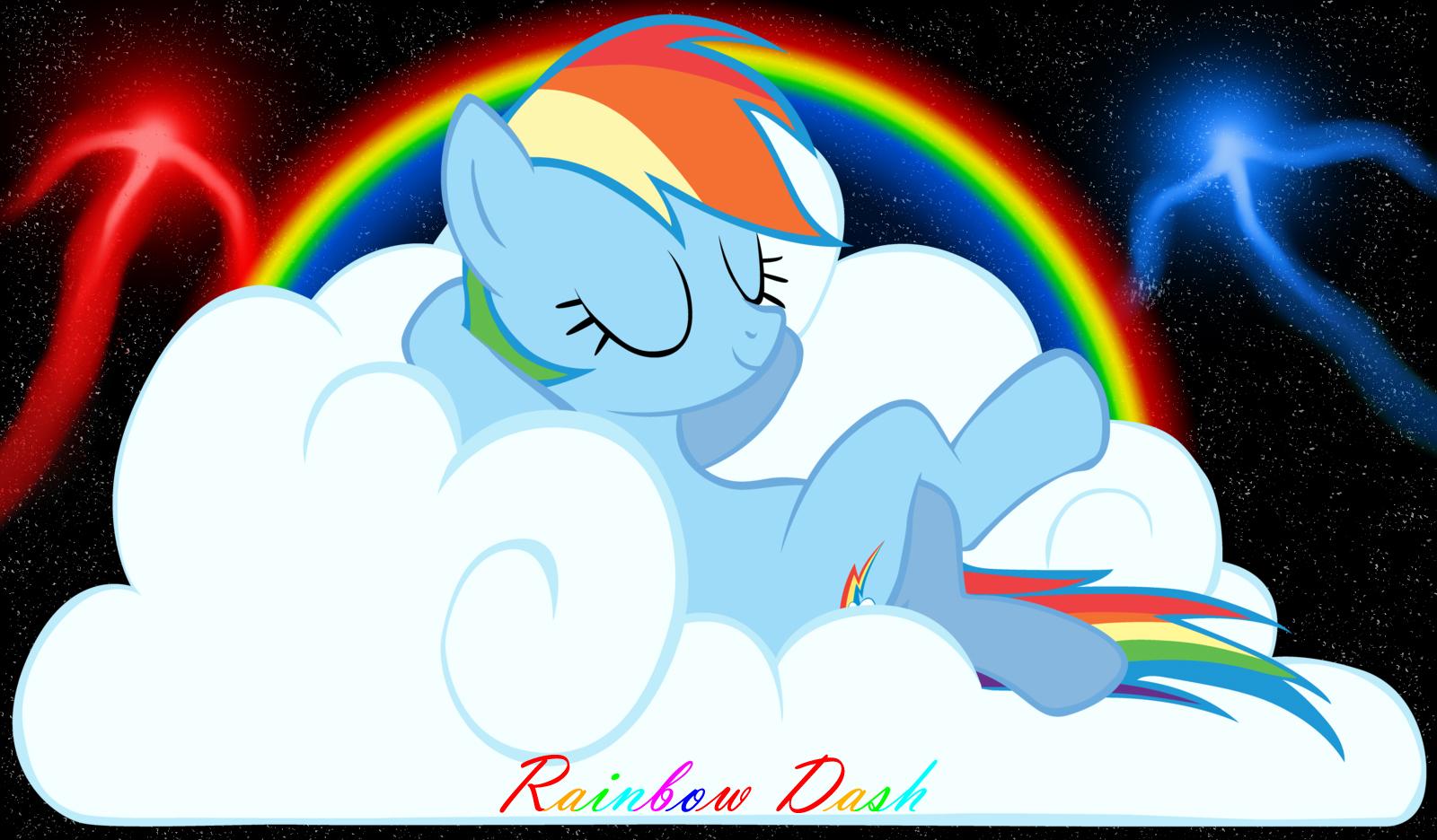Rainbow Dash Chillin By RainbowDashRocks101