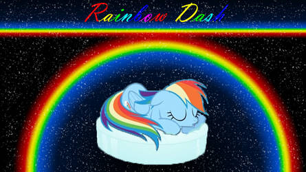 Rainbow Dash napping